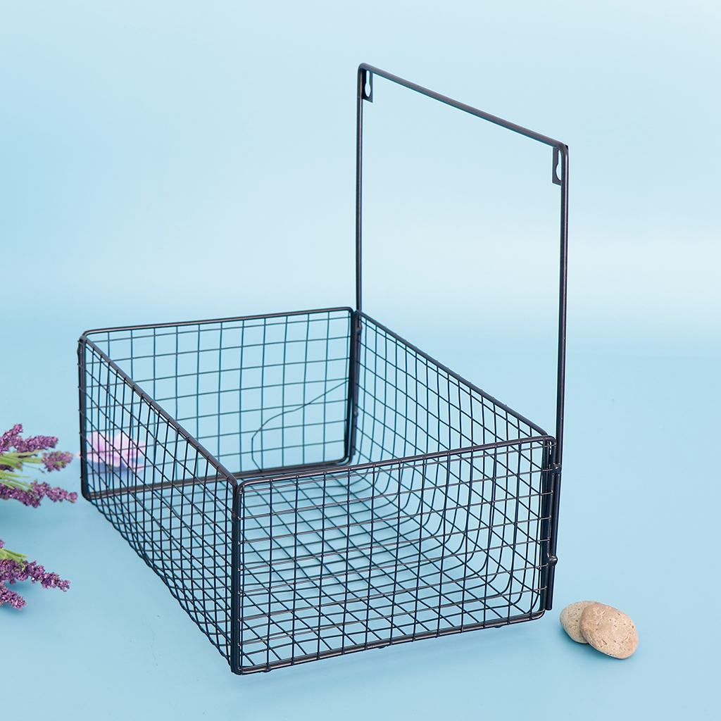 Iron Kitchen Hanging Basket Desktop Storage Basket Bathroom Cosmetic Shampoo Storage Box Sundries Wall Organizer Rack