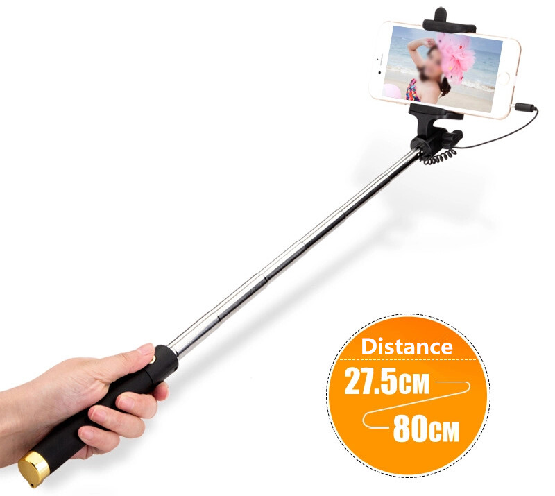 mini selfie stick tripod monopod for iphone samsung android ios wired palo selfie groove camera. Black Bedroom Furniture Sets. Home Design Ideas