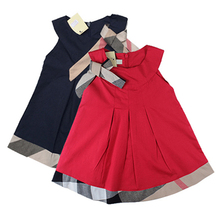 Baby Girl Dress 2016 Autumn Baby Dress Casual Baby Girl Clothing Cotton Girls Clothes Brand Children Clothing Plaid Vestidos(China (Mainland))