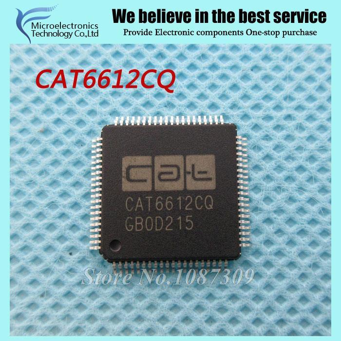 10PCS free shipping CAT6612CQ CAT6612 LQFP80 High performance low cost single path HDMI transmitter IC new original(China (Mainland))