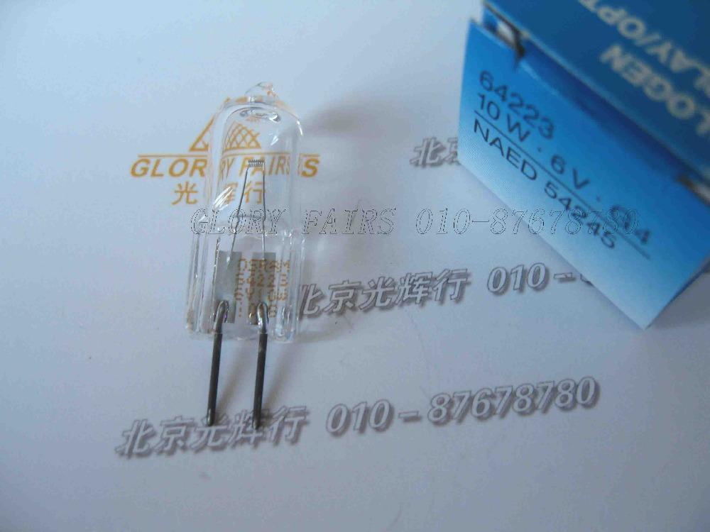 OSRAM 64223 6V 10W halogen lamp,chemistry analyzer,photometer analytical light,6V10W G4 projector bulb(China (Mainland))