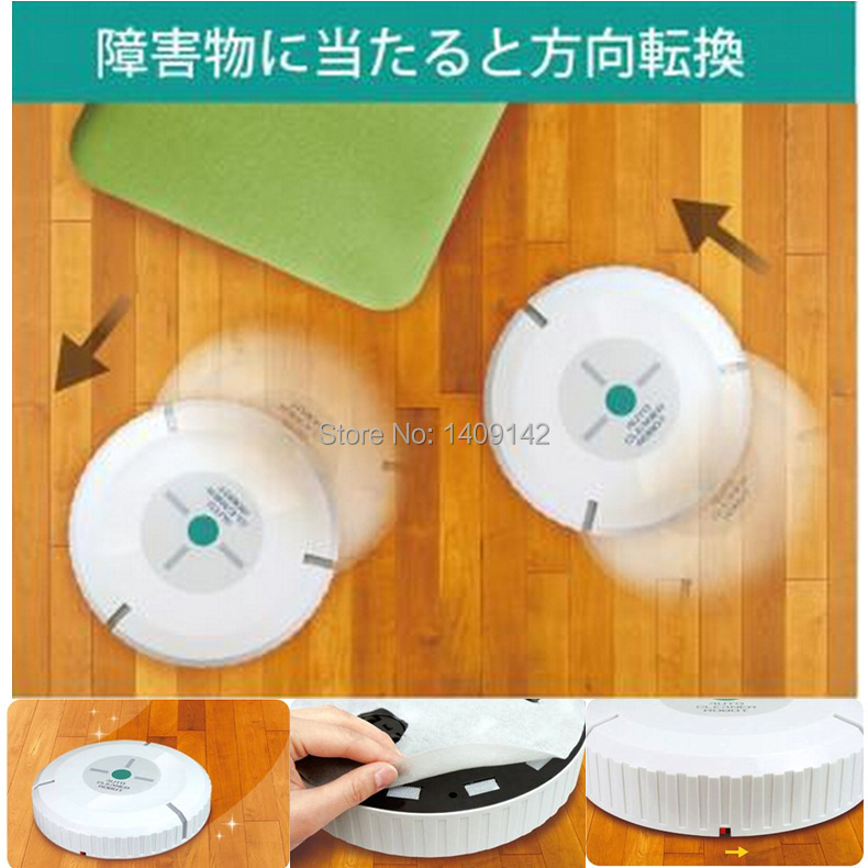 Radom color delivery Auto Vacuum Cleaner Robot Microfiber Smart Robotic Mop Automatic Dust Cleaner with 20 absorption paper(China (Mainland))