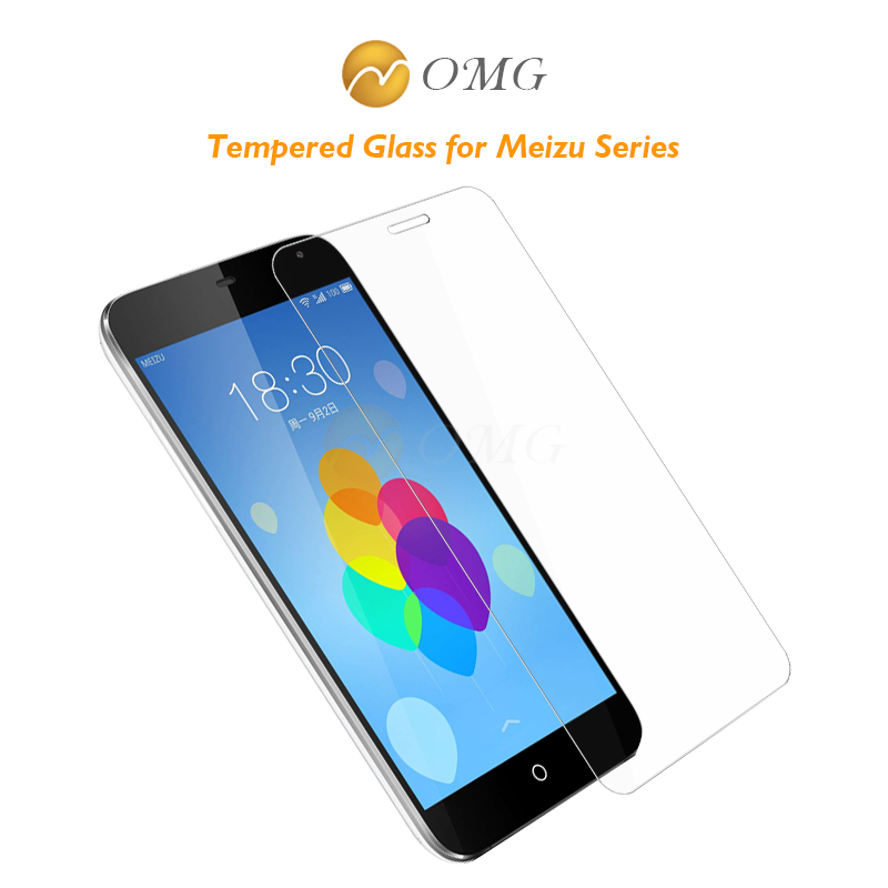 Tempered Glass Film For Meizu MX2 MX3 MX4 MX5 MX4Pro Pro4 MX5 PRO Pro5 0.3mm 2.5D 9H Screen protector free shipping(China (Mainland))