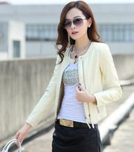 Leather Jacket Women Spring Autumn 2015 New Fashion Leather Coat Short Slim Motorcycle Leather Clothing Female Outerwear A0330(China (Mainland))