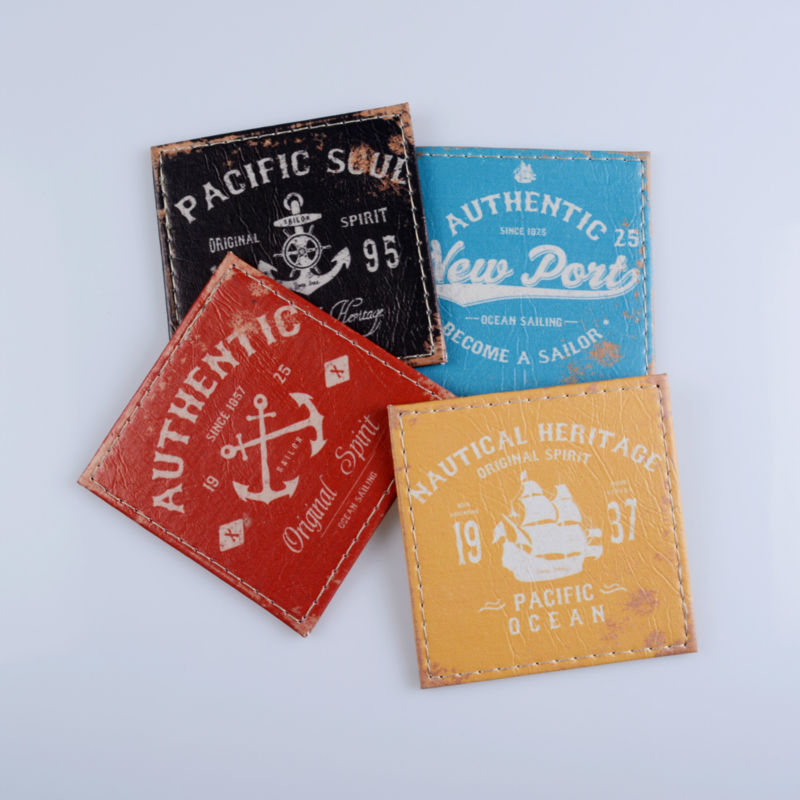 LINKWELL Set of 4 10x10cm Authentic Sea Pacific Soul Nautical Heritage Bar Coaster Table Cup Holder Drink Placemat Mat Tabletop(China (Mainland))