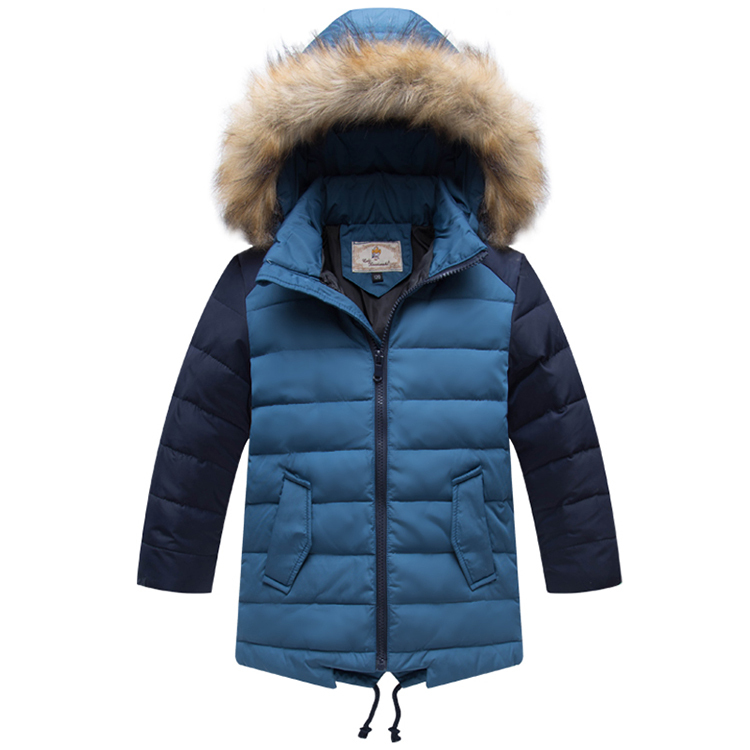 Children Clothing Winter Thick Duck Down Jackets Fashion Boys Fur Hooded Collar Warm Parkas Kids Down Coat Outerwear <br><br>Aliexpress