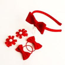 New Cute Baby Kids Headwear Set Hairpins/Hairbands/Elastic hair bands Handmade Dots Headbands Hair Clips Girls Hair Accessories