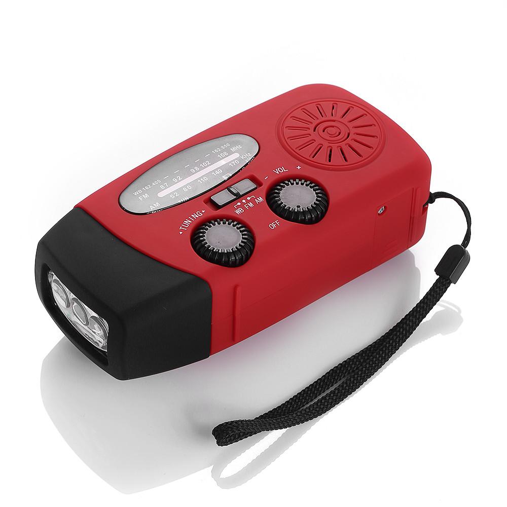 Weather Alert Radio AM/FM/WB Emergency Solar Hand Crank Dynamo Radio Receiver LED Flashlight Charger free shipping(China (Mainland))