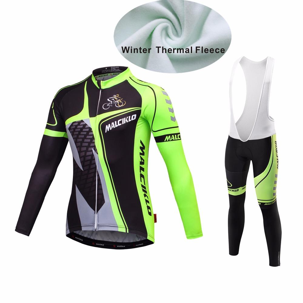 MALCIKLO custom maillot winter thermal fleece cycling jersey cube long sleeve pro cycling clothes free shipping bosco sport set(China (Mainland))