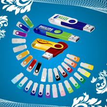 Free EMS 50PCS/Lot Swivel Real 1GB 2GB 4GB 8GB USB Flash Drive Promotional Customized Logo Printing as Company Gifts(China (Mainland))