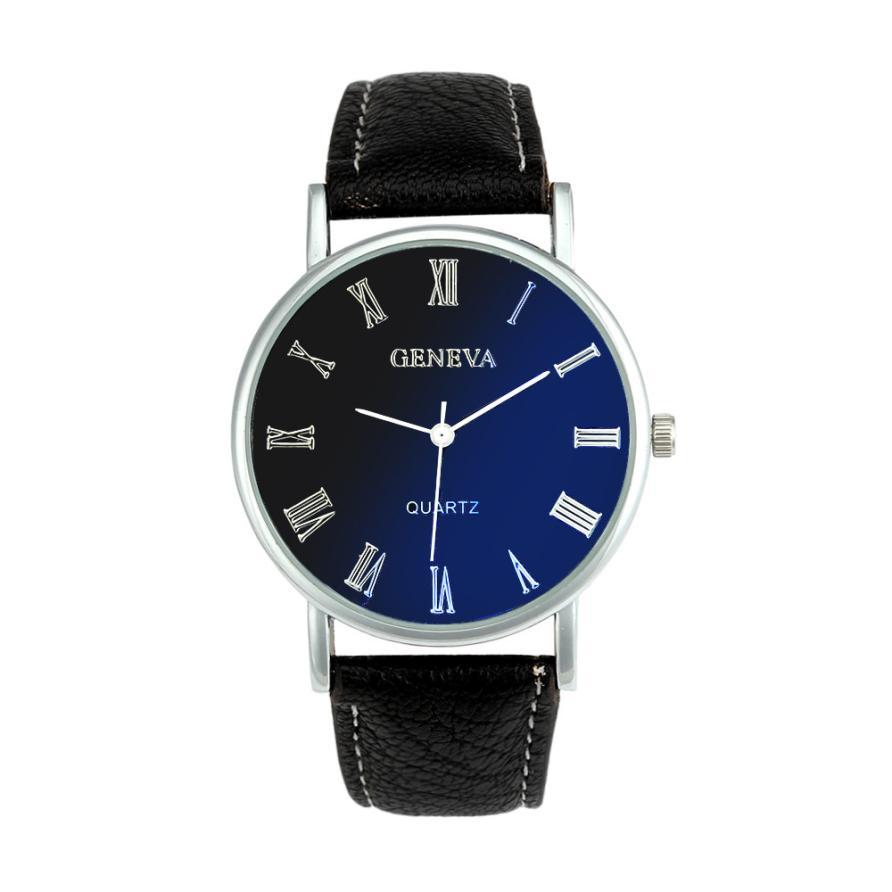 Attractive Hot sale Simple Design Men Women Blue Ray Glass Quartz Analog Wrist Watch Watches OT19(China (Mainland))
