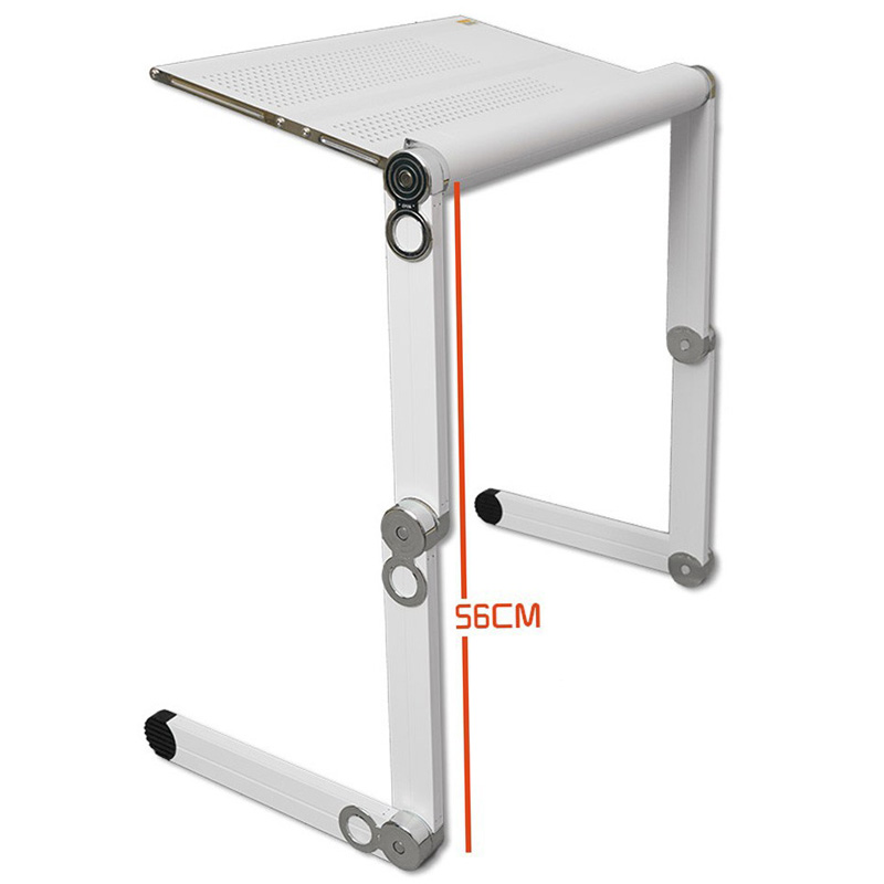 Portable folding design multifunctional adjusting laptop table with white color load bearing 65kgs(China (Mainland))