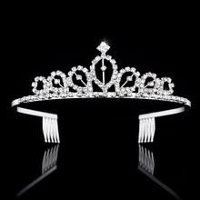 Diadèmes et couronnes en cristal de mariée bandeau enfant fleur filles demoiselle d'honneur mariage accessoires de cheveux bijoux de cheveux(China)