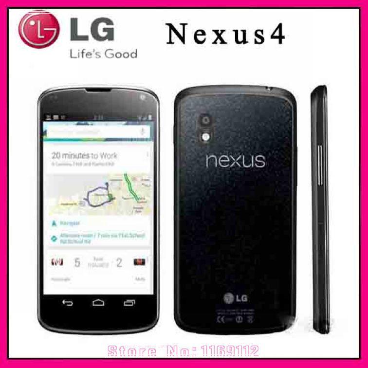 """E960 100% Original LG Nexus 4 E960 Mobile phone Quad Core 1.5GHz 4.7"""" Capacitive Screen Internal 8/16 GB Storage 2 GB RAM(China (Mainland))"""