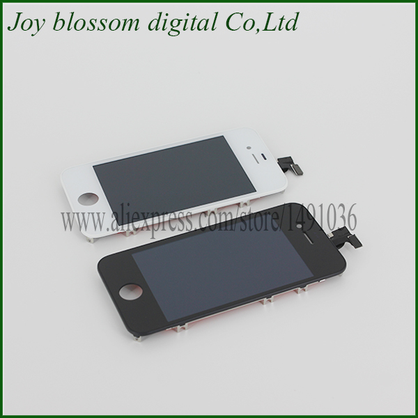 20 pcs/lot LCD Touch Screen Digitizer Glass Assembly LCD Display Touch Screen Digitizer Assembly for iphone 4S Free Shipping(China (Mainland))