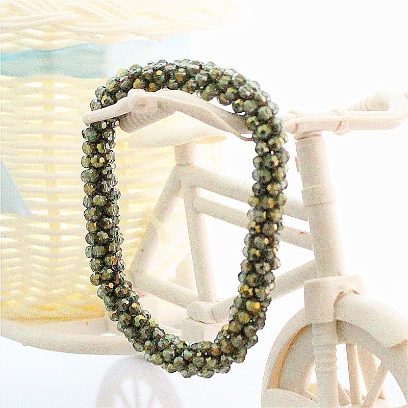 Free Delivery Excessive High quality Vogue Charms Beads Crystal Bracelet  Handmade Beads Bracelets for Girls HK001