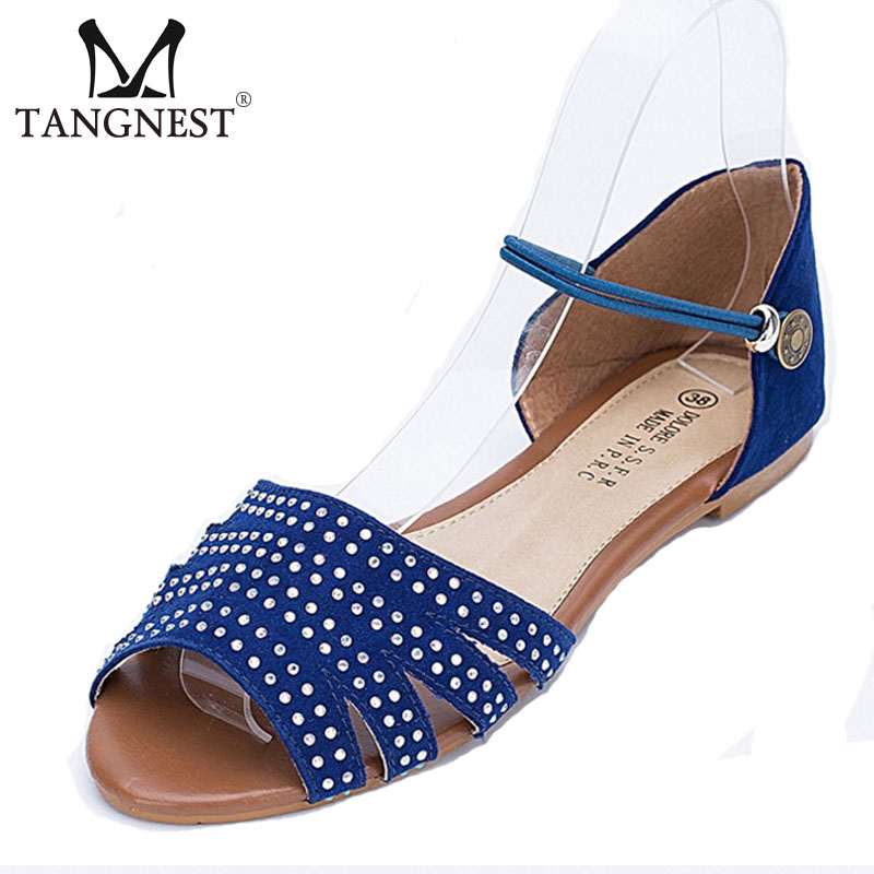 Big Size 36~41 New Women Sandals Fashion Rhinestone Open Toe Women Summer Flats 3 Colors Gladiator Sandals Woman XWZ1835<br><br>Aliexpress