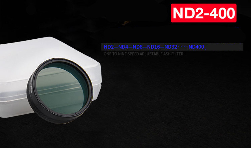 Hottest ND2-400 Dimming Filter Accessories Adjustable ND Dimming For DJI Phantom 3/4 Free Shipping