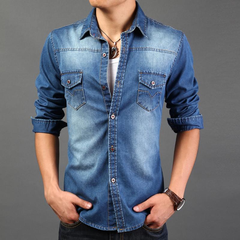 Cotton Jeans Shirts Denim Shirts Cowboy Cotton