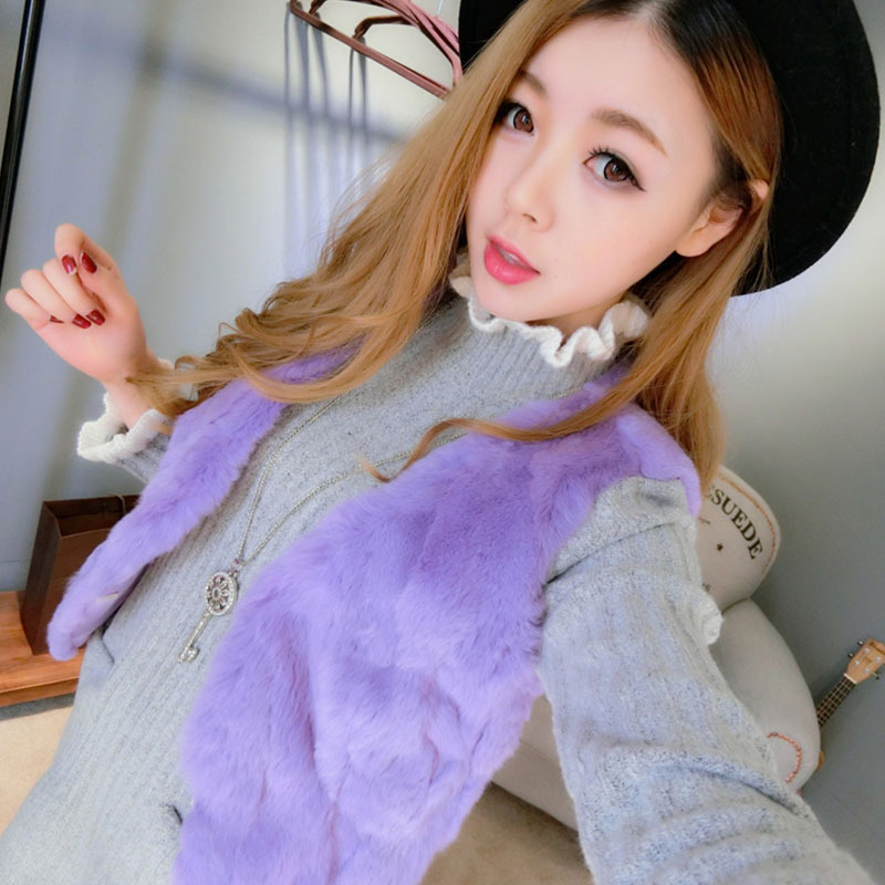 Rabbit Fur Vest Real Fur Coats For Women 2015 Winter Autumn Brand Sale Fur Vest Variety Of Colors Fashion Out wear High Quality