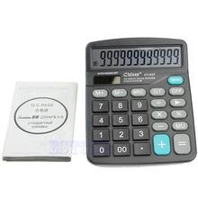 2016 Large Buttons Dual Power Solar & Battery Powered Desktop Desk Digit Calculator(China (Mainland))