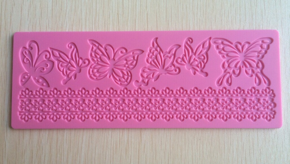 Butterfly design shape Silicone 3D Mold Cookware Dining Bar Non-Stick Cake Decorating fondant soap mold F293(China (Mainland))