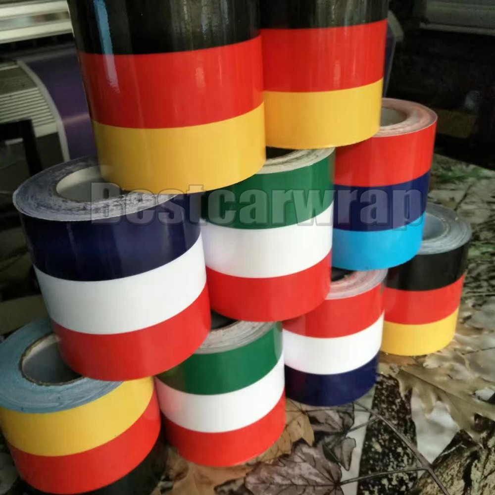 car decals strip type france italy bmw germany flag 3 color graphics car wrapping vinyl design (1)