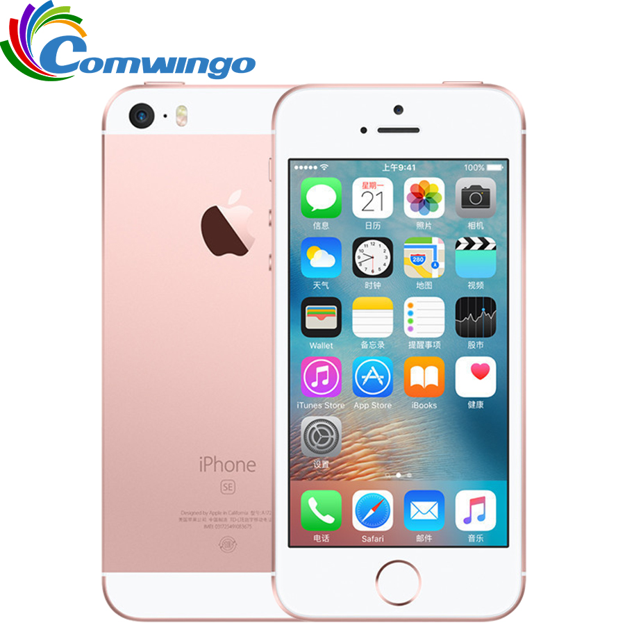 Original Unlocked Apple iPhone SE Cell Phone 4G LTE 4.0' 2GB RAM 16/64GB ROM A9 Dual-core Touch ID Mobile Phone Used iphonese(China (Mainland))