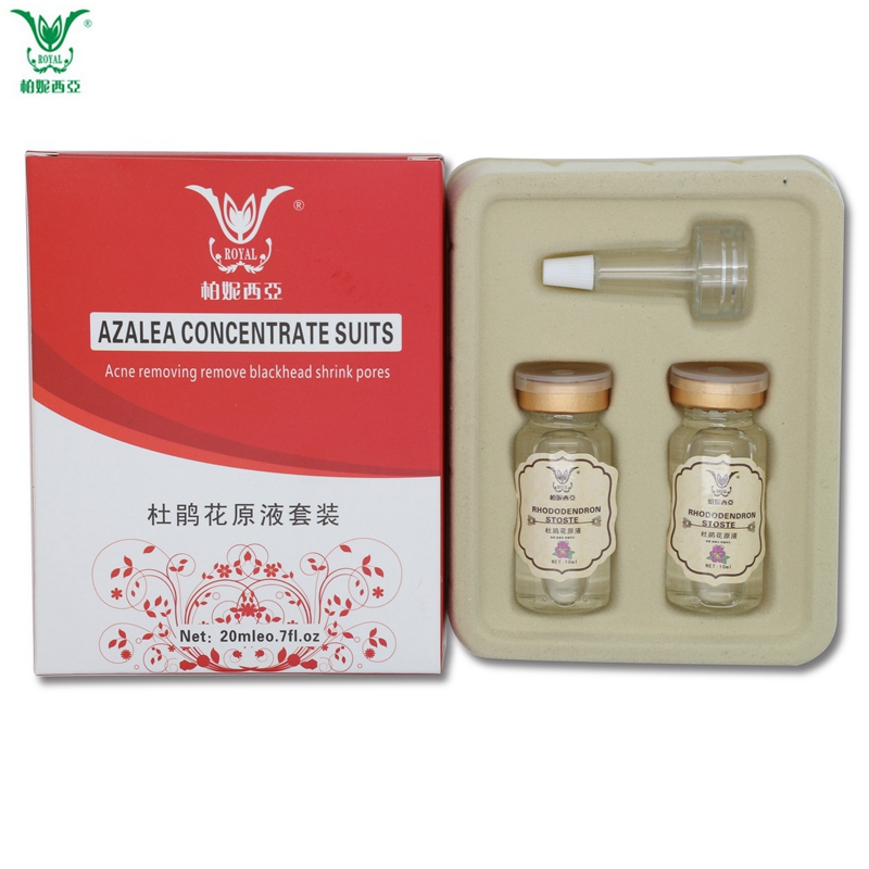 2pcs/set Rhododendron Essence Face Serum Whitening Moisturizing Acne Treatment Shrink Pores Skin Care Ageless Anti Wrinkle Cream(China (Mainland))