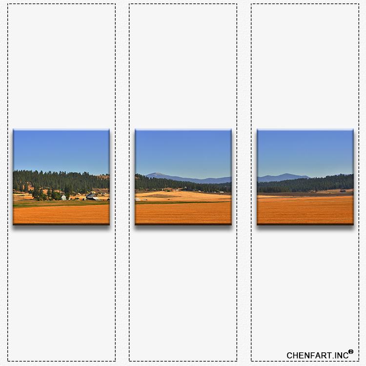 3 pcs wall art sets painting print on canvas wall art wall painting field harvest painting Modern Painting printed no frame(China (Mainland))