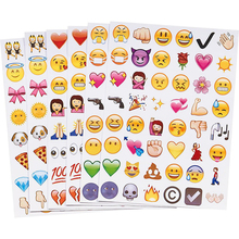 New Cute Lovely 48 Die Cut Emoji Smile Sticker For Notebook Message High Vinyl Funny Creative(China (Mainland))