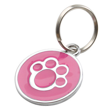 Factory Direct Supply Dog Paw Style Dog Name Dog Necklace Tag Pets Identity Card For Pets