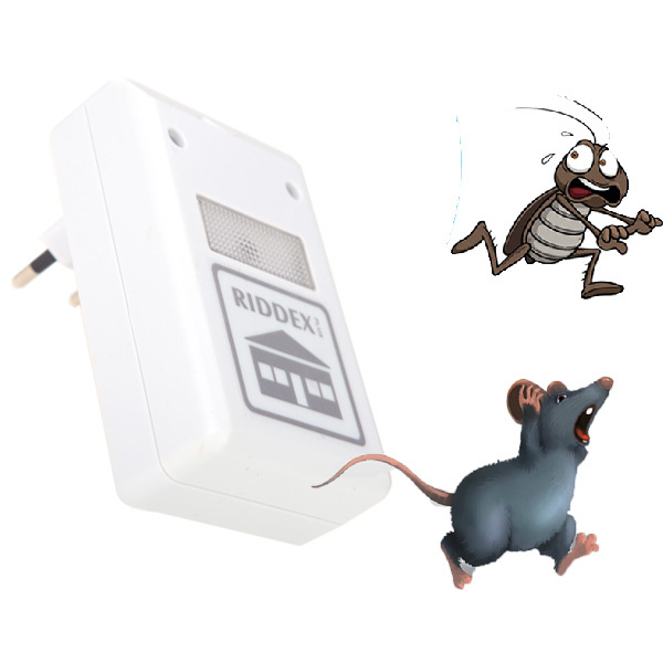 Pest Repeller ULF Ultrasonic Waves 220V Electronic Repeller Control Aid for Ants Spiders Roaches Mice Repelling White(China (Mainland))