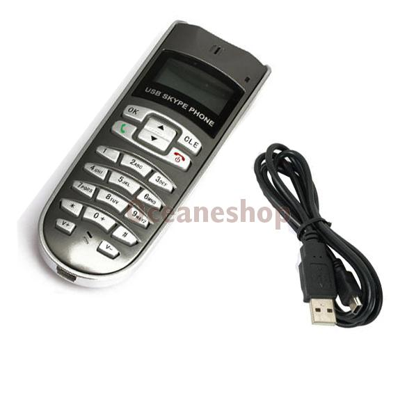New USB LCD Internet Phone Telephone Handset For Skype VOIP With Driver CD(China (Mainland))
