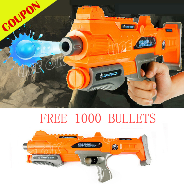 FREE SHIPPING HOT SALE PAINTBALL RIFLE CS GAME SHOOTING WATER CRYSTAL GUN PLASTIC NERF AIR SOFT ARMY GUN(China (Mainland))
