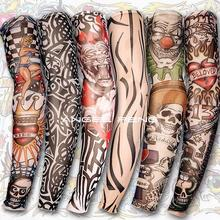 Free shipping! 6 PCS Nylon Stretchy Fake Tattoo Sleeves Arm Stockings new 140 kinds of styles to choose from(China (Mainland))