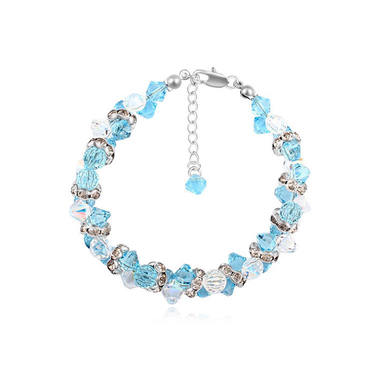 Luxury Jewelry Crystals from Swarovski Crystal Bracelets &amp; Bangles Women Alice Wonder Design Pulseras Silver Mujer DIY Fine<br><br>Aliexpress