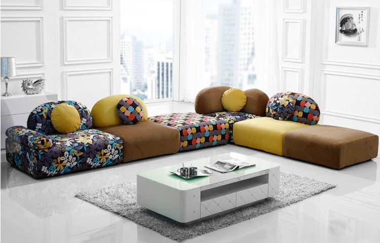 U-BEST Hot sell Fabric sectional sofa setliving room section sofa colorfull sofafashion design : best quality sectional sofa - Sectionals, Sofas & Couches