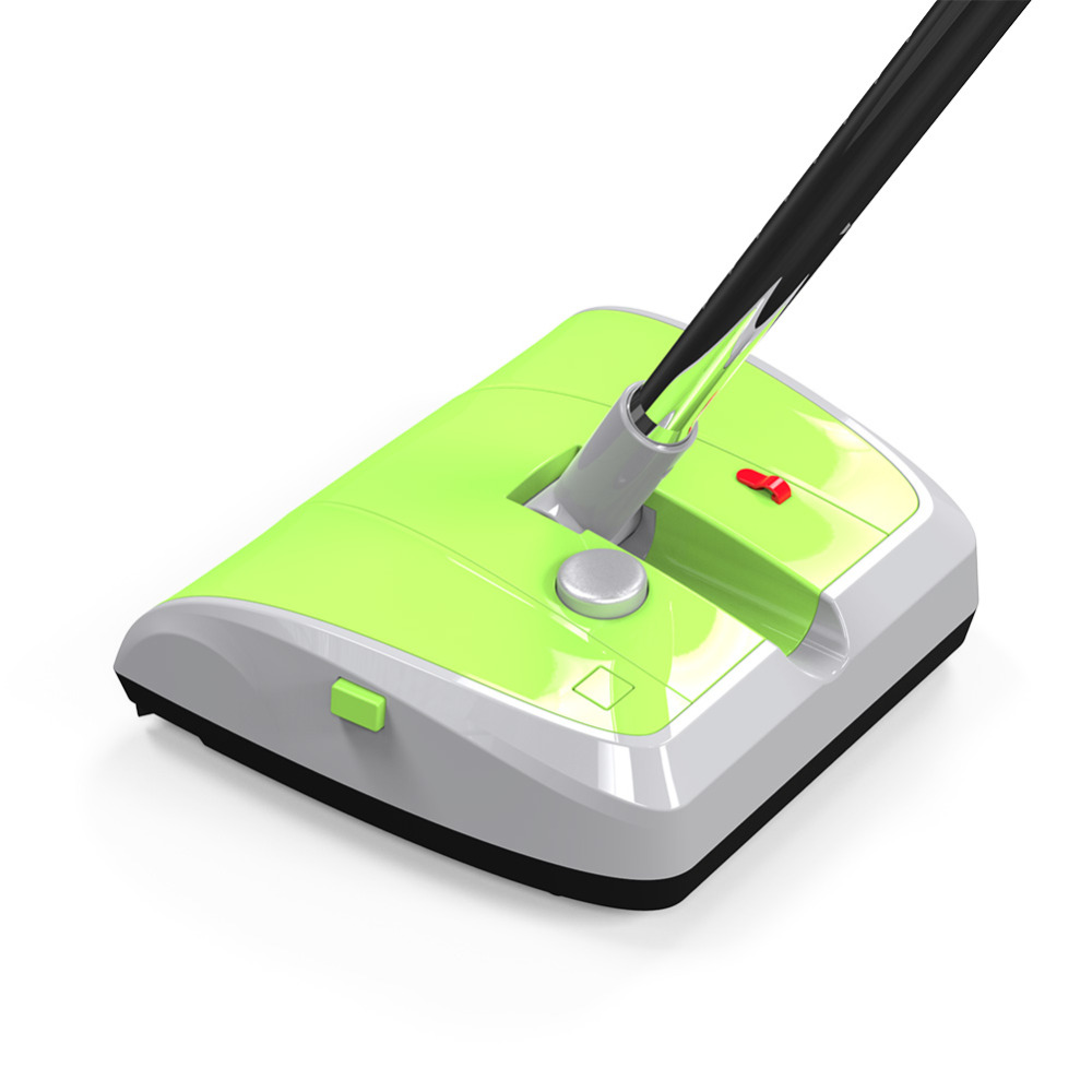 Newest Double Brush Wheel Magic Floor Carpet Sweeper Rechargeable Plastic Sweeper(China (Mainland))