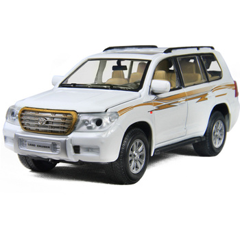 WARRIOR car toy car exquisite alloy car model TOYOTA land cruiser acoustooptical quartiles door