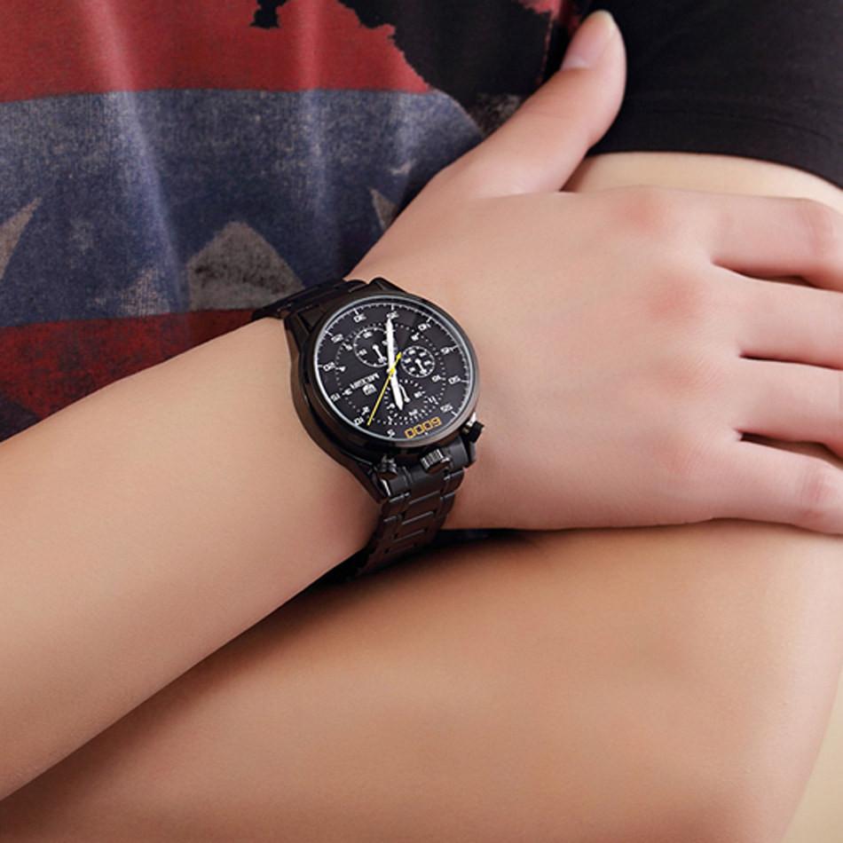MEGIR Хронограф Многофункциональные Часы Известный Бренд Роскошных Мужчин Полный Стали Розового Золота Часы Военные Часы Relogio Masculino