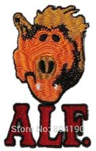 "ALF ""Alien Life Form"" TV Series Character Crew Logo TV Series punk rockabilly applique sew on/ iron on patch Wholesale(China (Mainland))"