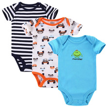 3pcs lot Baby Romper Short Sleeve Cotton Carters Baby Boy Girl Clothes Baby Wear Jumpsuits Clothing