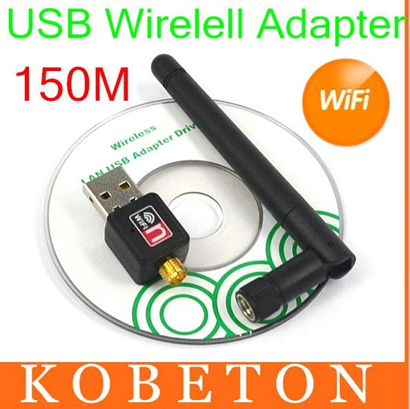 150Mbps USB 2.0 Mini WiFi Wireless Dongle Network Card 802.11n/g/b 2.4G 150M LAN Adapter with Antenna For Macbook Pro Air(China (Mainland))