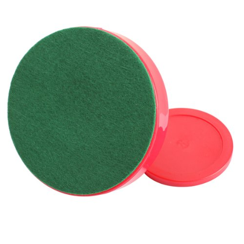 Good Deal ! 4Pcs Air Hockey Table Goalies with 4pcs Puck Felt Pusher Mallet Grip Color Red Gift(China (Mainland))