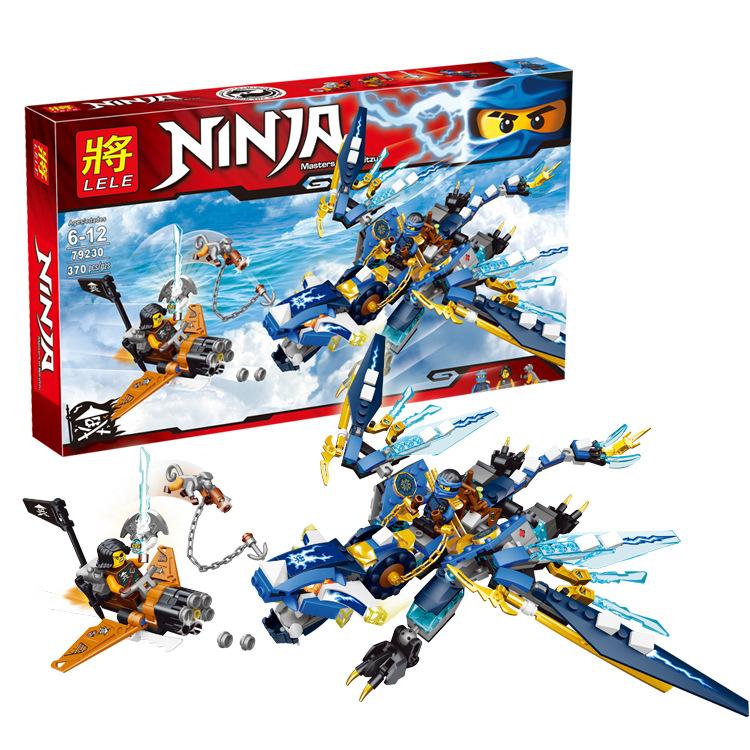 2016 NEW LELE Ninja Ninjagod Jay's Elemental Dragon Toys Action Figures Building Blocks Minifigures Bricks Compatible as Legod(China (Mainland))