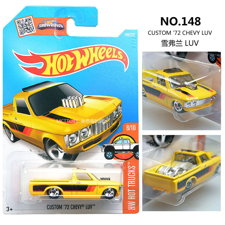 Hot Wheels CUSTOM 72 CHEVY LUV Truck Metal and Plastic Model Car Kids Classical Toys Gift NO.148(China (Mainland))