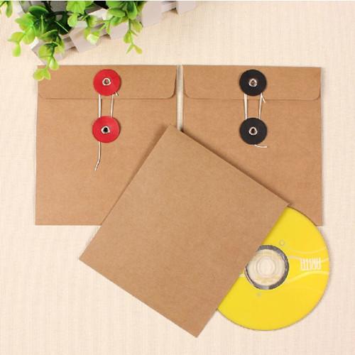 DHL 13*15cm Single Pieces Kraft Paper CD / DVD Sleeve Retail Package Pack Bags Packaging Envelopes Bag