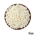 8mm ABS Ivory Imitation Pearl Two Hole Beads 200pcs lot Cheap Wholesale European Round Beads Plastic