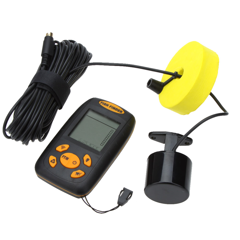 25ft cable portable fish finder 100m depth fishing sonar for Best portable fish finder